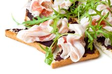 Free Rocket Salad And Ham Sandwich Royalty Free Stock Photography - 6852237