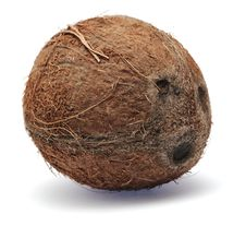Free Coconut Isolated On White Background Royalty Free Stock Photography - 6852337