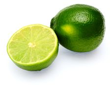 Lime Isolated On White Background Royalty Free Stock Image