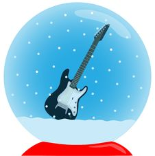 Free Crystal Ball With Guitar Stock Photography - 6853692