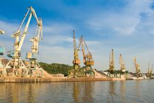 Free Port With Cargo Cranes Stock Photography - 6854402