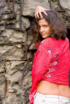 Free Pretty Female Model In Red Stock Photo - 6854570