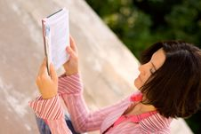 Free Young Female Reading In Park Royalty Free Stock Photo - 6854665