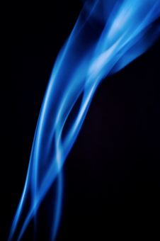 Blue Smoke Abstract Stock Images