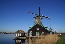 Free View On The Paint Wind Mill Stock Image - 6855191