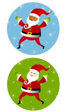 Free Round Santa Claus Icons Stock Image - 6855491