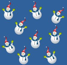 Free Tileable Snowman Background Royalty Free Stock Photography - 6855587