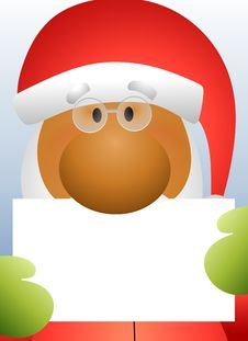 Santa Claus Holding Card 2 Stock Photo