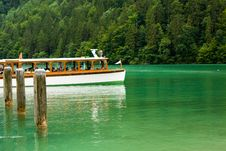 Free Cruise Boat On A Lake Royalty Free Stock Photos - 6855688