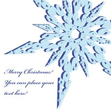 Free Christmas Frame With Snowflake Stock Images - 6855744