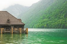 Free Jetty On The Lake In A Cloudy Day Royalty Free Stock Photography - 6855777