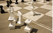 Free Giant Chess Table Royalty Free Stock Image - 6855956