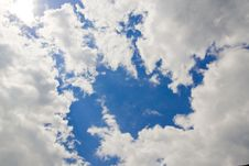 Free Summer Sky With Clouds Stock Photo - 6855960