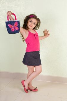 Free Girl With Bag Stock Photo - 6856530