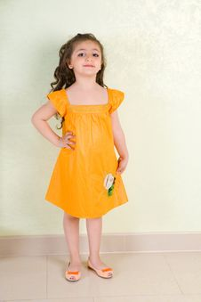 Free Beauty In Yellow Dress Royalty Free Stock Photography - 6856667