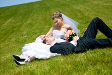 Free Couple On The Grass Royalty Free Stock Photos - 6857588