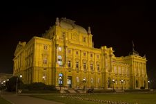 Free Zagreb Theatre Opera Night Royalty Free Stock Photos - 6858958