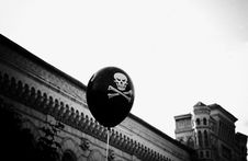 Baloon With Skull Stock Images