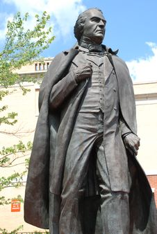 Free Andrew Johnson Statue Front View Stock Images - 6859234