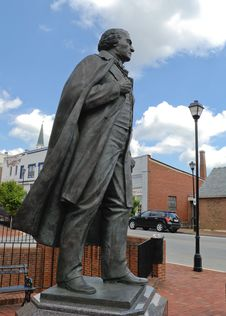 Free Andrew Johnson Statue Side View Stock Photo - 6859330