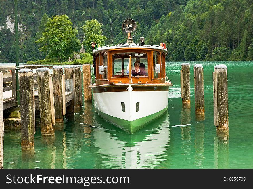 Cruise boat on the lake