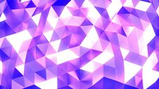 Pink - Blue - White Abstract Background Of Triangles - Low Poly, Seamless Loop Royalty Free Stock Photos