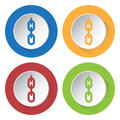 Free Set Of Four Icons - Hanging Chain With Hole Royalty Free Stock Photos - 68588088