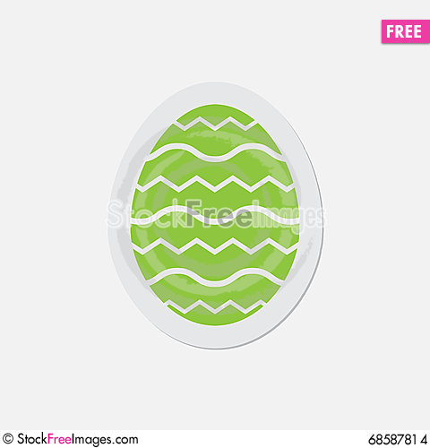 Free Simple Green Icon - Easter Egg Stock Images - 68587814
