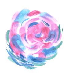 Free Colorful Watercolor Sphere. Painted Design Elements. Bud. Blue Wet Hand Painted Round Blotch Circle. Abstract Painting. Royalty Free Stock Photos - 68584608