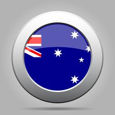 Free Metal Button With Flag Of Australia Stock Photos - 68587613