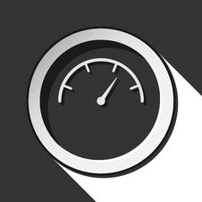 Icon - Dial Symbol With Shadow Royalty Free Stock Photos