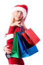 Free Dreamy Girl With Shopping Bags Stock Photo - 6860020