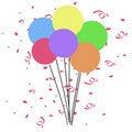 Free Birthday Balloons Illustration Royalty Free Stock Photos - 6862148