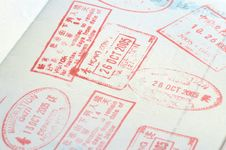 Free Passport Stamps Royalty Free Stock Images - 6860079