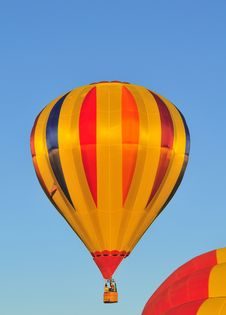 Free Hot Air Balloon Orange, Gold And Blue Royalty Free Stock Image - 6860206
