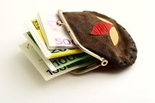 Free Purse Full Of Euros Royalty Free Stock Images - 6860289