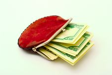 Free Purse Full Of Dollars Royalty Free Stock Images - 6860319