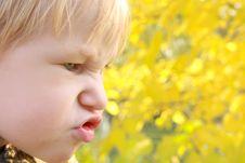 Portrait Of Emotional Child Stock Photography