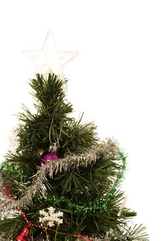 Free Decorated Christmas Tree With Star On Top Stock Photos - 6861753