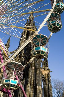 Free Ferris Wheel. Edinburgh Royalty Free Stock Photos - 6862128