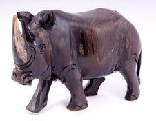 Free Wooden Rhino Stock Photo - 6862130