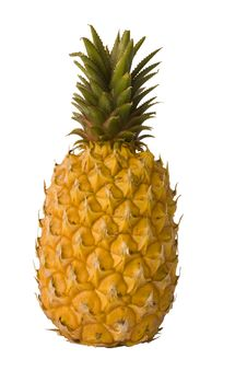 Free Pineapple On White Royalty Free Stock Image - 6862146