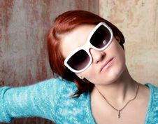 Free Girl With White Glasses Stock Photo - 6862290