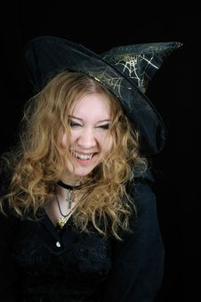 Free Cute Young Smiling Halloween Witch Royalty Free Stock Images - 6862949