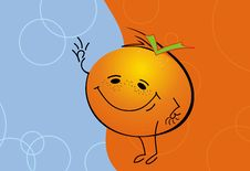 Free Happy Orange Man Stock Image - 6863361