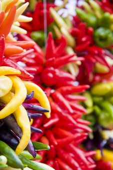 Free Yellow And Red Hot Peppers Royalty Free Stock Photography - 6863547