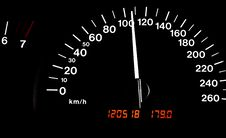 Free Speedometer At 110kph Stock Photography - 6864372