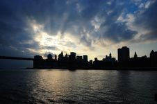 Free Manhattan Sunglow Royalty Free Stock Photos - 6864628