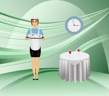 Free Waitress Stock Photography - 6864722