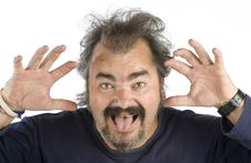 Free Portrait Of An Irascible Man Stock Photos - 6864893